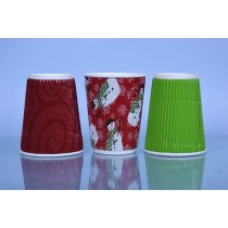 250ml Rippled Paper Cup Box